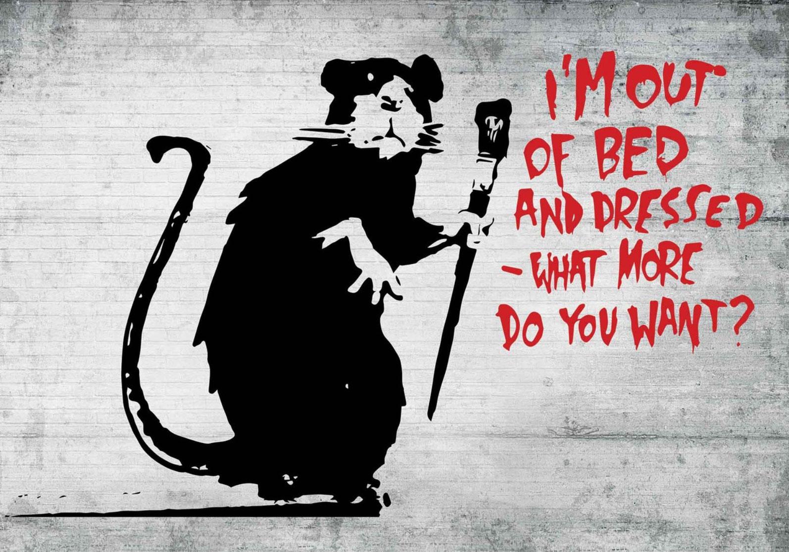 Banksy ( バンクシー ) |展示プロセスやギャラリーをも作品の一部とするストリートアート最大の人気アーティスト